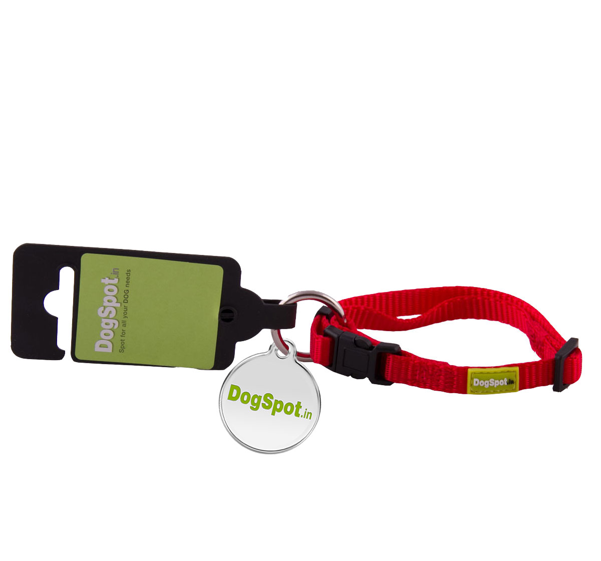 DogSpot Premium Adjustable CollarRed - Medium With Wag Tag