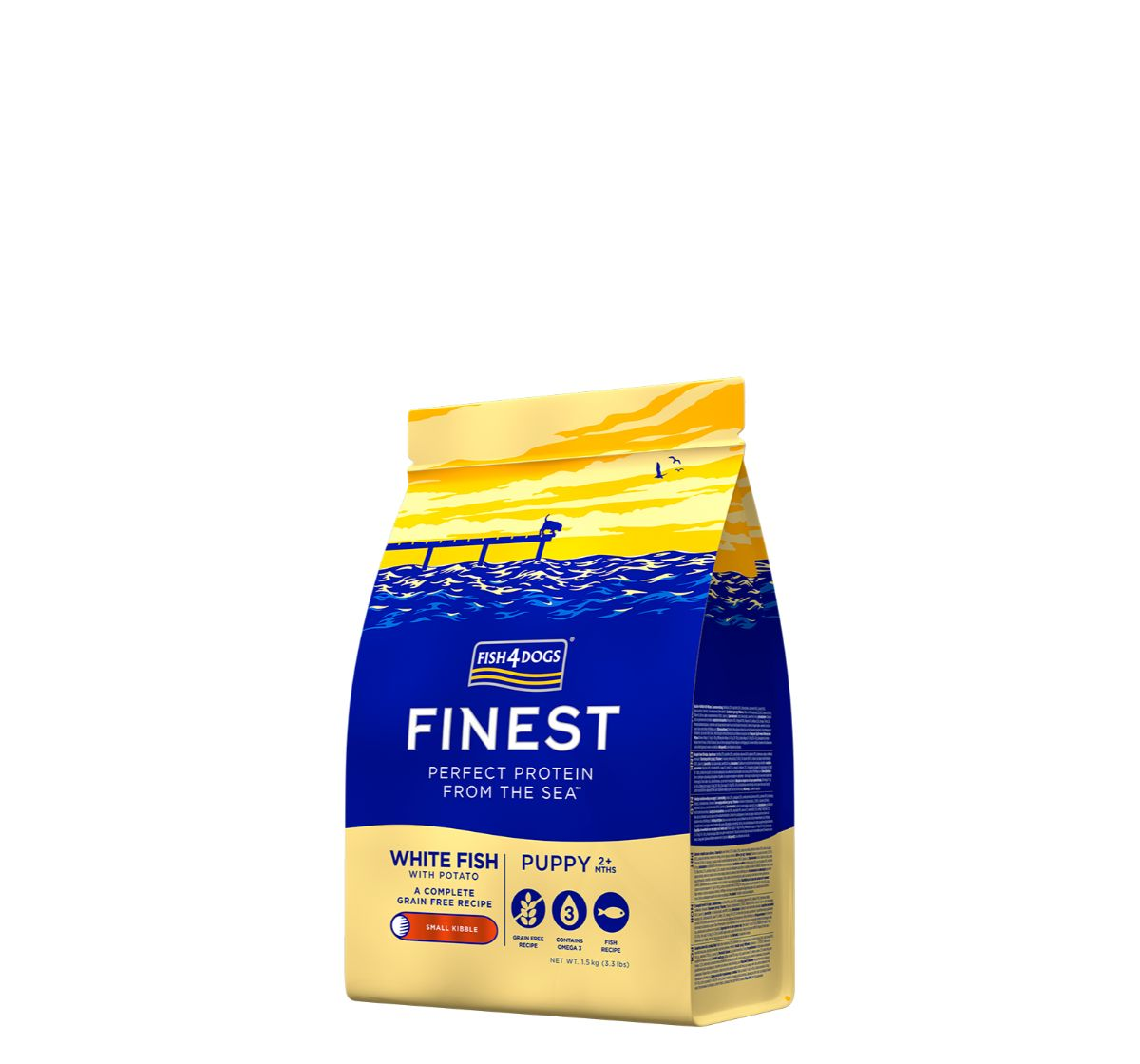 Fish4Dogs Finest Ocean White Fish Puppy Food - 1.5 Kg