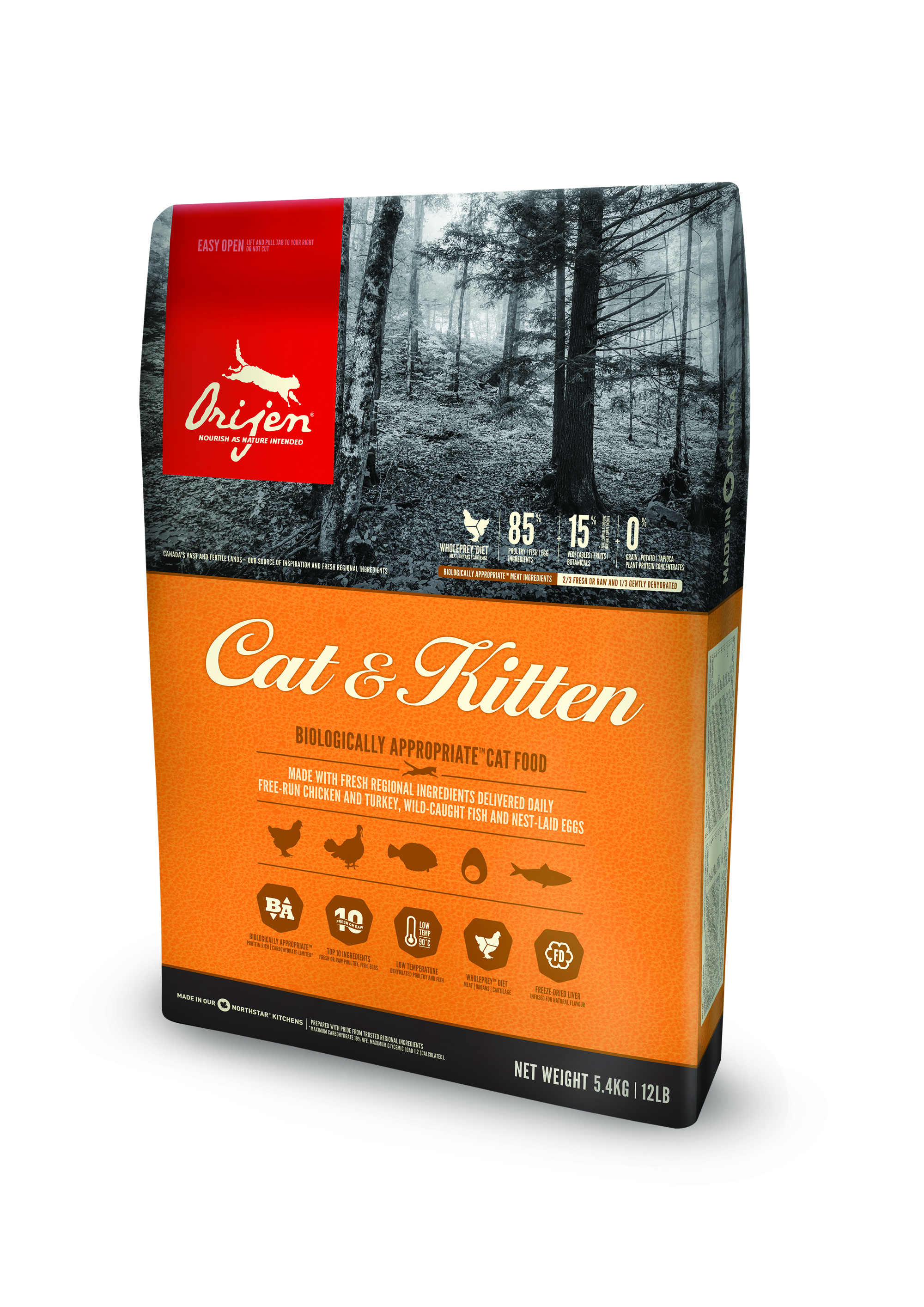 Orijen Cat & Kitten Food - 5.4 Kg