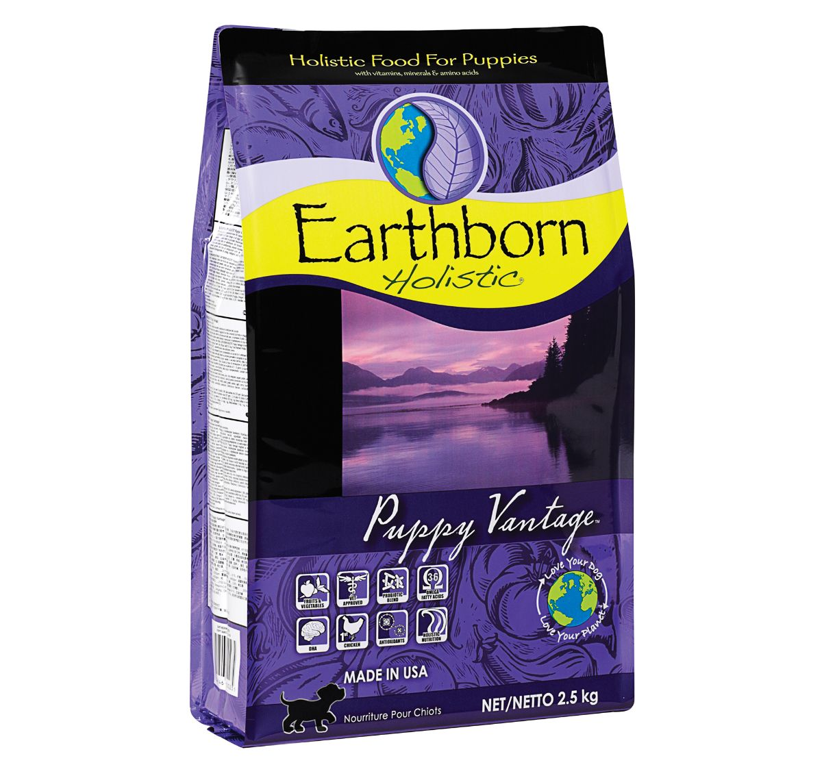 Earthborn Holistic Puppy Vantage Grain-Free Dry Dog Food - 2.5 kg