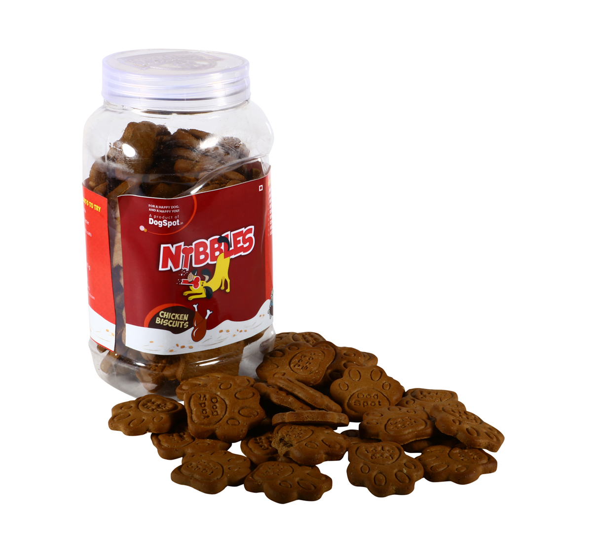 Nibbles Chicken Dog Biscuit - 500 gm(Pack Of 4)