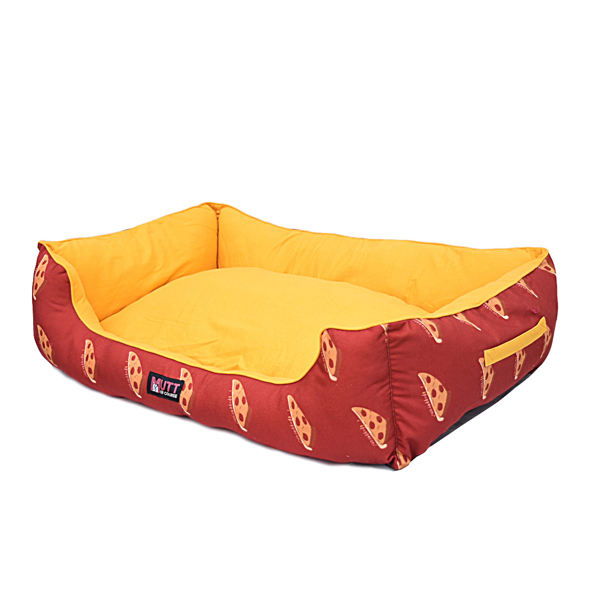 Mutt Of Course Lounger Bed For Dogs - Pupperoni Pizza - Small