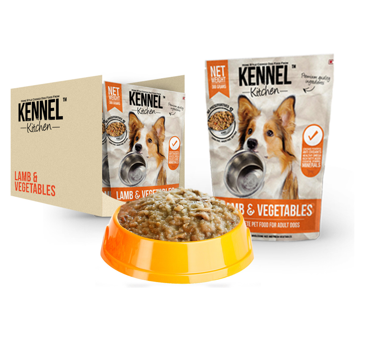 Kennel Kitchen Adult Large Breed Lamb & Vegetable - 300 gm (Pack Of 3)