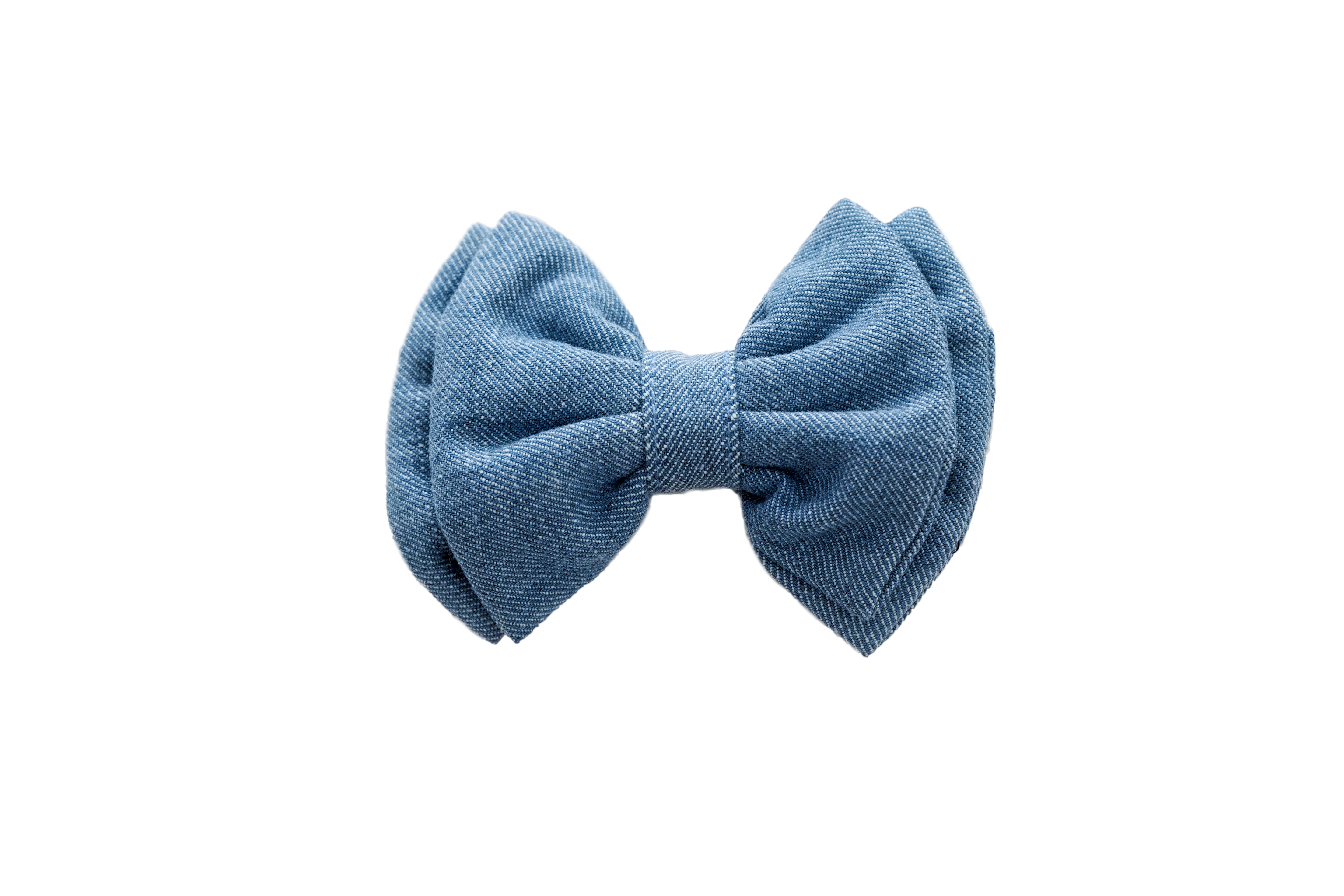 Mutt of Course Light Denim Bow Tie- Small