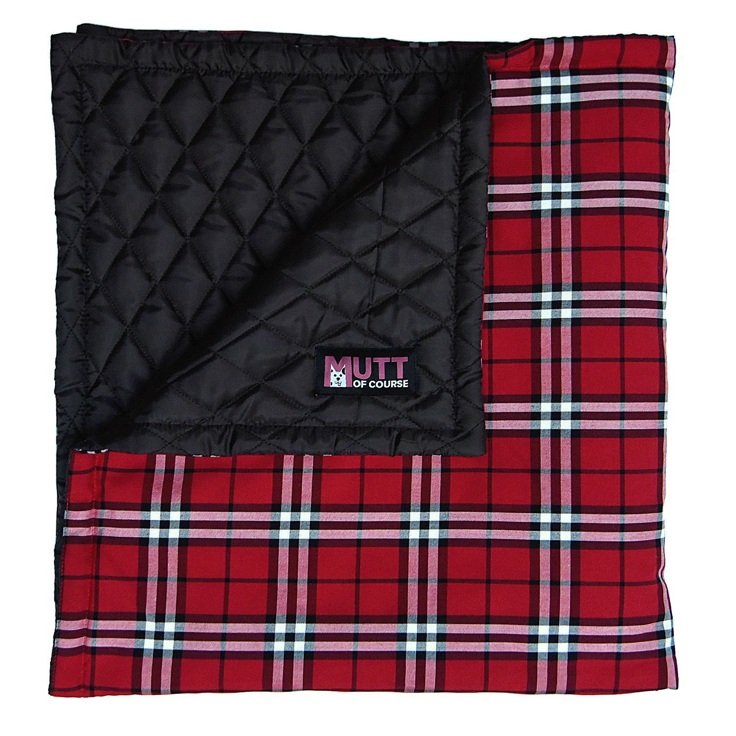 Mutt Of Course Pupberry Blanket Brown & Olive Green - Medium