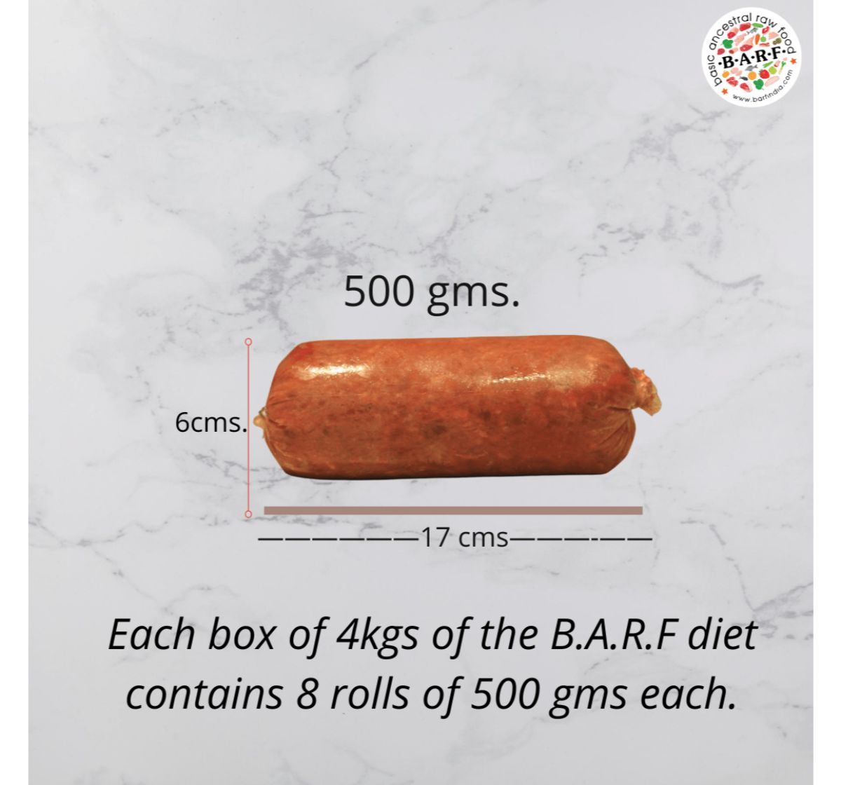 BARF Ostrich Dog Food Recipe- 4 kg